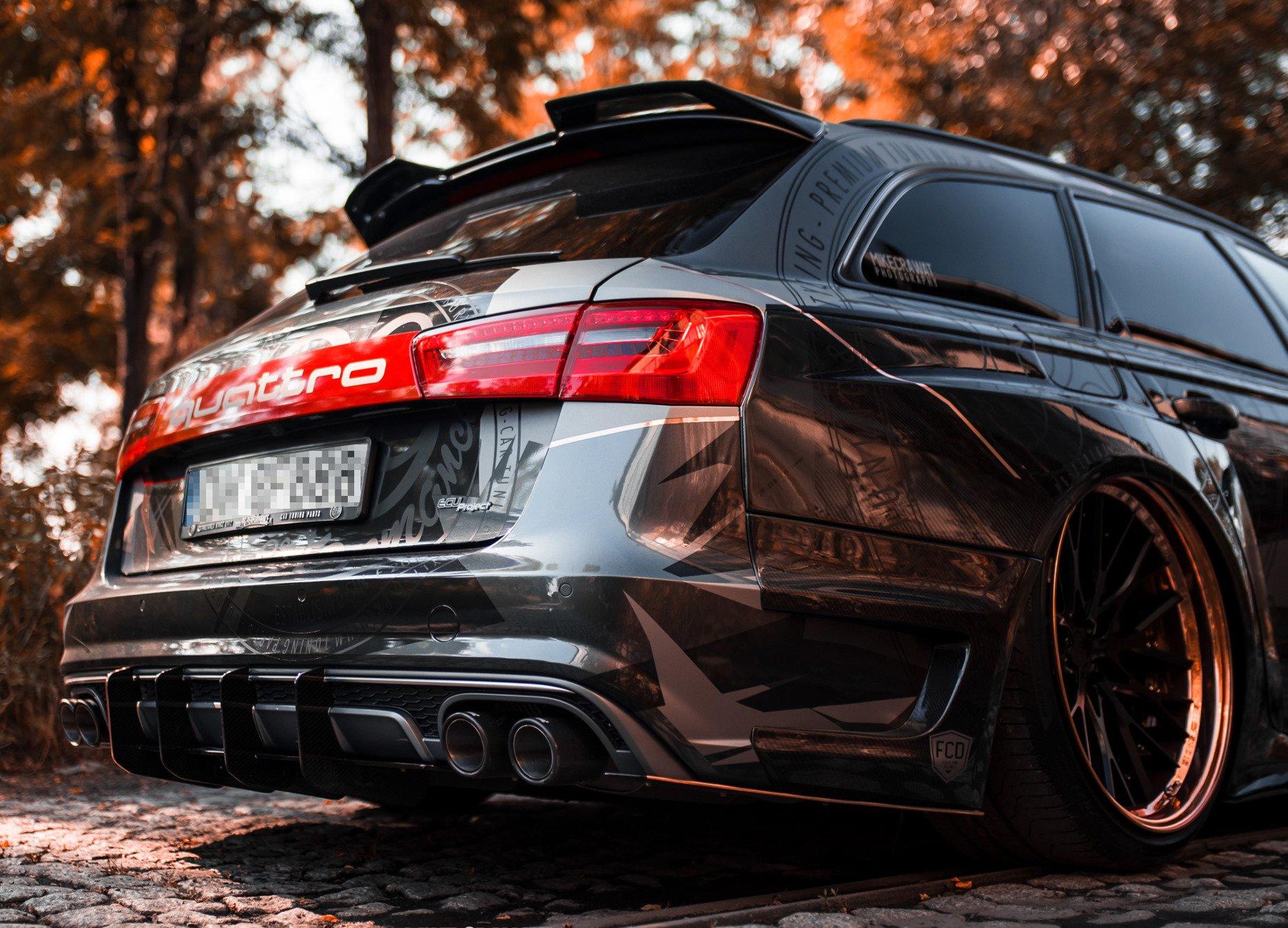 A6 S6 Sline C7.5 Spoiler de s/éparateur de l/èvre avant , pour Audi A6 S6 SLine 2016~2018 3 pi/èces//ensemble style de voiture